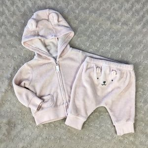 Carter's Terry Cloth Outfit Jacket Pants